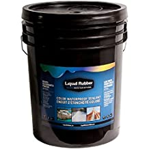 Liquid Rubber Color Waterproof Sealant/Coating (5 Gallon, White) - Environmentally Friendly - Water Based - No Solvents, VOC's or Harmful Odors - Easy to Apply - No Mixing - TOP SELLER
