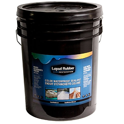 Liquid Rubber Color Waterproof Sealant/Coating (5 Gallon, White) - Environmentally Friendly - Water Based - No Solvents, VOC's or Harmful Odors - Easy to Apply - No Mixing - TOP (5 Gallon Roof)