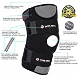 Knee-Support-Brace-For-MeniscusACLPCLArthritisRunningHikingBasketball-Breathable-Neoprene-Open-Patella-Protector-Stabilizer-Compression-Support-Sleeve-Adjustable-Size-for-Most-WomenMen
