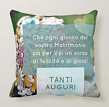 Cuscino Pillow Promessa Matrimonio Bride Anniversario Auguri