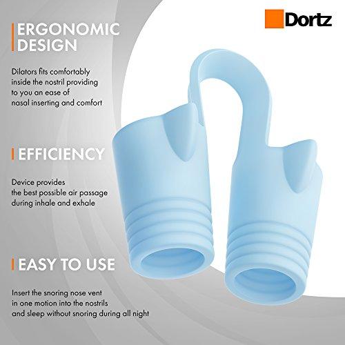 Dortz  Snoring Solution - Anti Snoring Devices - Snore Stopper - Anti Snoring Solutions - Nose Vents - Anti Snoring Device- Snore Nasal Dilators - Snore Aids by Dortz (Image #1)