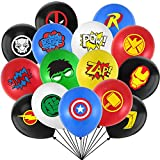 Rekcopu Superhero Party Supplies 40 Pack Superhero Balloons 12 Inches Latex Balloons Superhero Party Favors for Kids Birthday Party Decorations