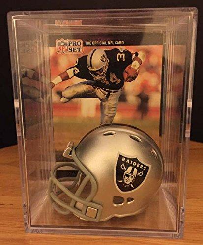 L.A. Raiders NFL Helmet Shadowbox w/Bo Jackson card