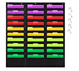 Godery Organization Pocket Chart,Wall File Pocket Folder Organizer with 30 Pocket Chart Plus 5 Hangers Hooks, The Perfect Pocket Chart for Classroom, School, Office Or Home Use