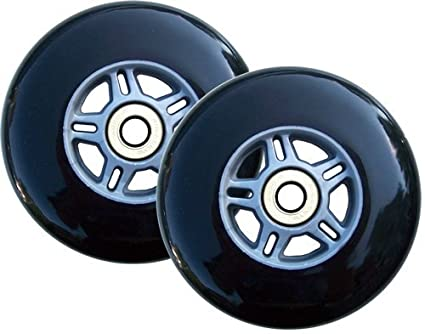 TGM Skateboards 2 Black Replacement Wheels ABEC7 Bearings Scooter 100mm