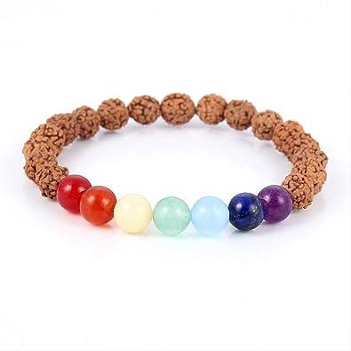 DOUYA Personalidad Seven Chakra Yoga King Kong Bodhi Bead ...