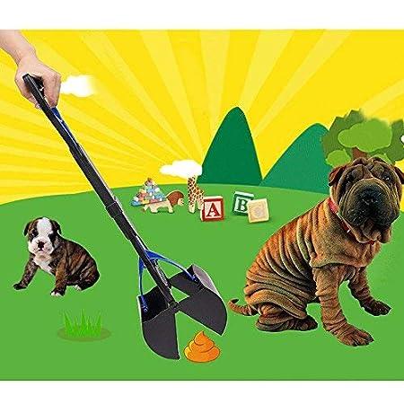 Chiens chats ramasser les excréments de chiens pelle de toilette produits de nettoyage pour animaux Chien Ramasse Crotte Pooper Scooper Pelle Facile Pickup Marcher Pet Poop Scoop Grabber Picker (vert)