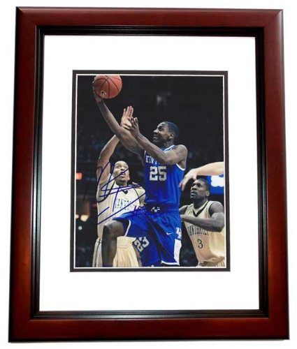 Autographed Marquis Teague Picture - 8x10 MAHOGANY CUSTOM FRAME 2012 National Champions - PSA/DNA Certified Mahogany Marquis
