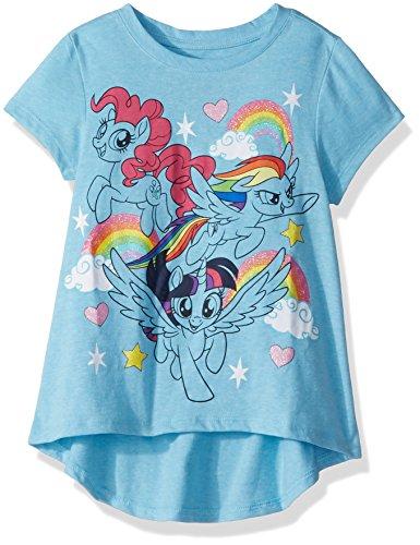 Pony Gift - My Little Pony Big Girls' Hi-Low T-Shirt, Blue Heather, L