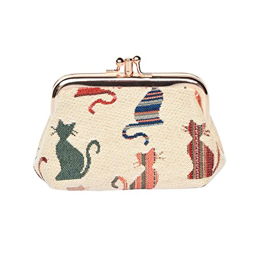 Cheeky Cat (Signare Fashion Tapestry Double Clasp Metal Frame Purse (Cheeky Cat))