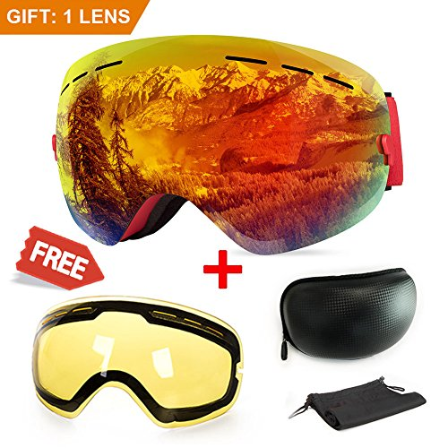 Expert choice for ski goggles for snowboard and snowmobile