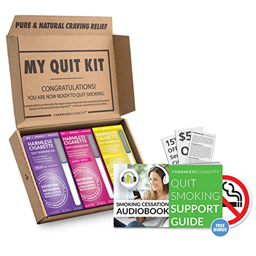 Therapeutic Stop Smoking Remedy to Overcome Cravings and cope with Hand-to-Mouth Withdrawal Symptoms 30 Day Quit Smoking Kit (Tropical Fusion,Mixed Berry,Lemon, Best Value, Variation Set) by Quit Smoking Aid