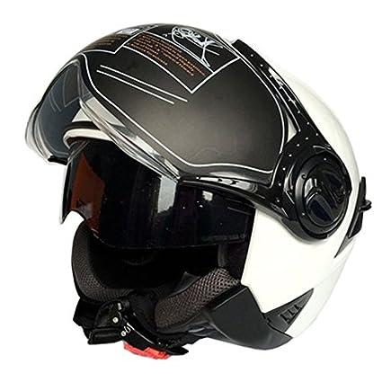 Casco de moto de vehículo eléctrico Casco de verano de doble lente Cascos medio exterior Uniforme