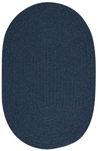 Colonial Mills Braided Oval Area Rug 5'x8' Federal Blue Bristol Collection Bristol Entrance