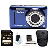 Kodak PIXPRO Friendly Zoom FZ53 (Blue) + Sony 32GB Class 10 70MB/s SDHC Memory