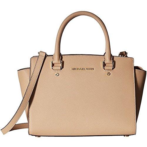 MICHAEL Michael Kors Selma Medium Tz Satchel Oyster Satchel Handbags