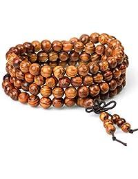 Wood Bracelet Tibetan Buddhist Link Wrist Sandalwood...