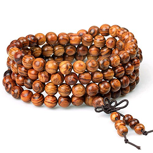 wood-bracelet-108-beads-8mm-diameter-tibetan-buddhist-link-wrist-sandalwood-beads-necklace-prayer-ma