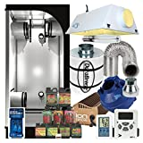 Cheap Complete 3 x 3 Grow Tent Package w/ 400W Sealed HPS HID, Carbon filter, Fan and more