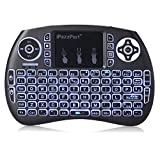 GBTIGER iPazzPort Wireless Mini Keyboard with Touchpad Handheld Remote Control 3 LED Backlit for PC, Xbox 360, PS4, Android TV Box, Smart TV.