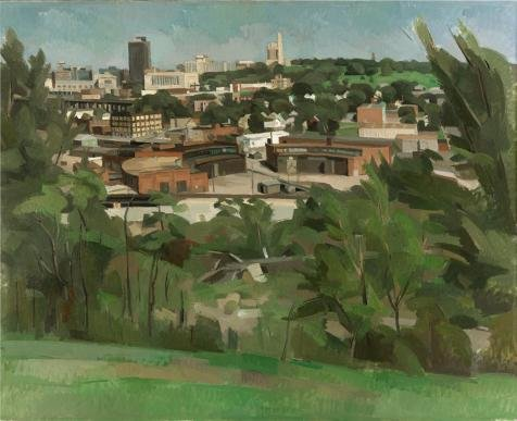 Oil Painting 'Wilbur Niewald,Kansas City,View From Greystone Heights IV,1989', 20 x 25 inch / 51 x 62 cm , on High Definition HD canvas prints is for Gifts And Dining Room, Gym And Hallway Decoration
