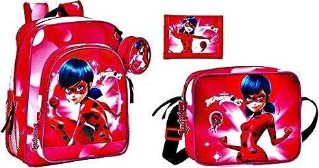 Venta barata venta outlet ventas especiales Miraculous Ladybug Mochila, Bolso Bandolera y Cartera, Rojo ...