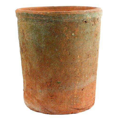 HomArt Rustic Terra Cotta Cylinder, Large, Natural, 1-Count