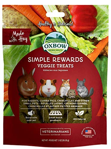 Oxbow Simple Rewards Veggie Treats, 3 Ounces (Pack of 2)