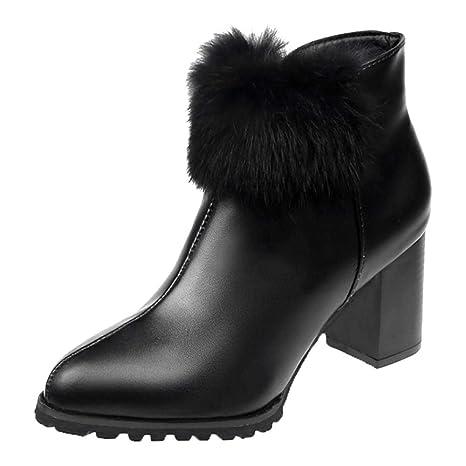 Logobeing Zapatos Mujer Botas Mujer Invierno Botines Mujer Tacon Botas Altas Mujer Zapatos de Tacón Bota