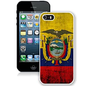 Popular And Durable Custom Designed Case For iPhone 5 With Ecuador White Phone Case