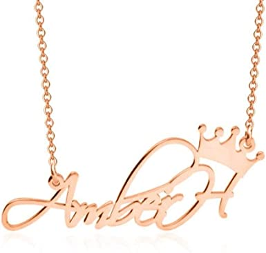 Crown Name necklace 18k Gold plated or 925 Sterling Silver Custom Personalized Gift Crystal Monogram Personalized Jewelry gift for her
