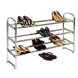 Seville Classics WEB237 3-Tier Expandable Shoe Rack