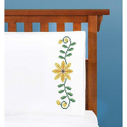 Herrschners® Black-Eyed Susan Pillowcase Pair Stamped Cross