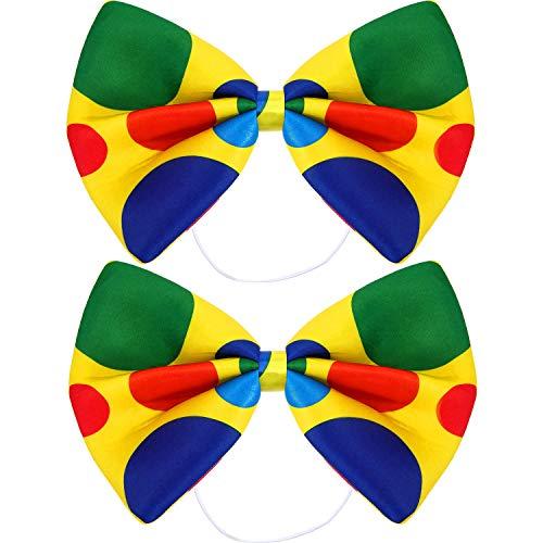 SATINIOR 2 Packs Jumbo Clown Bowtie Circus