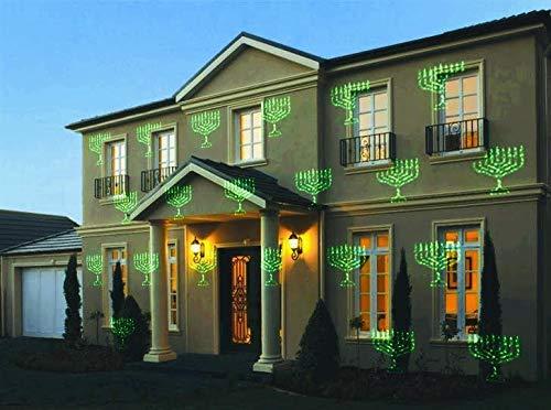 Chanukah Laser Lights, Home Decoration Hanukkah Lights Show - Laser Menorah