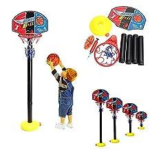 Bazaar Portable Children Kids Adjustable Basketball Indoor Outdoor Play Net Hoop Set 115cm