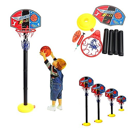 (Portable Children Kids Adjustable Basketball Indoor Outdoor Play Net Hoop 115cm - Outdoor Recreation Amusement Park - 1 xPortable BBQ)