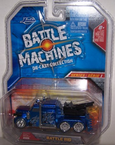Jada Toys 1/64 Scale Battle Machines Diecast Collection Series 1 Battle Rig in Color Blue -