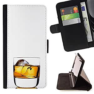 Momo Phone Case / Flip Funda de Cuero Case Cover - Whiskey Rocks beben alcohol Oro - Sony Xperia Style T3