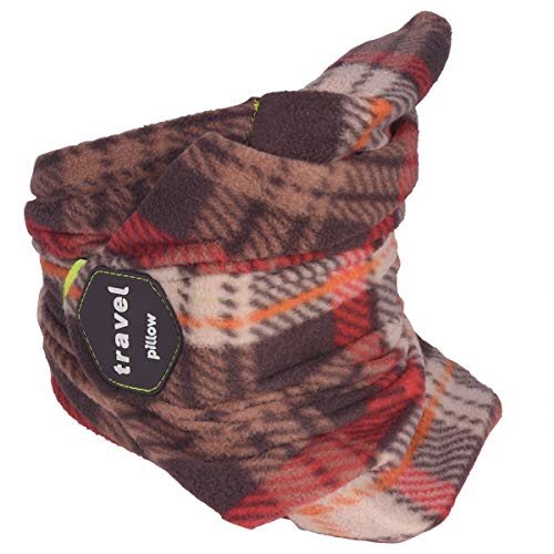 Travel Pillow Scarf Portable Neck Support for Airplane Travel Light Weight Innovative Design Easy to Carry