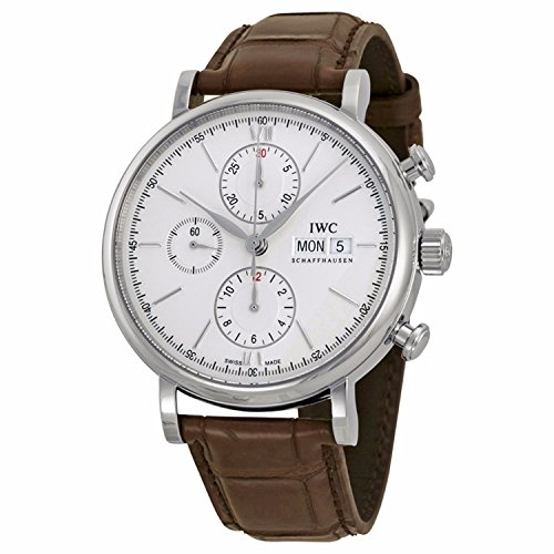 IWC Men's Quartz Stainless Steel Watch, Color:Brown (Model: IW391007)
