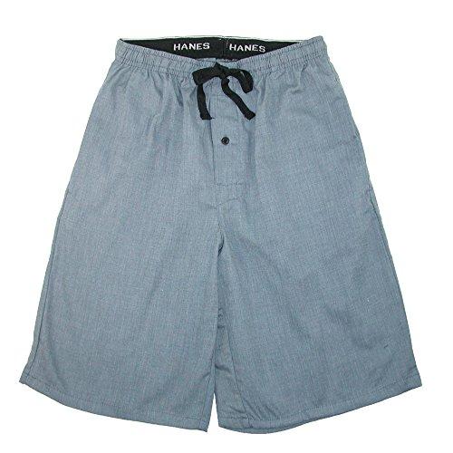 Pattern Boxer Shorts - Hanes Men's Cotton Madras Drawstring Sleep Pajama Shorts, 2XL, Heather