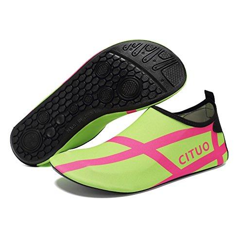 Cior Hommes Et Femmes Pieds Nus Peau Aqua Chaussures Anti-dérapant Multifonctionnel Chaussures De Leau Pour Plage Piscine Surf Yoga Exercice S.green 01