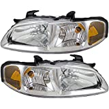 Driver and Passenger Headlights Headlamps Replacement for Nissan 26060-5M026 26010-5M026