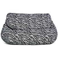Jordan Manufacturing BB2SPK1-Zebvel Velvet 2 Seater Zebra Print Bean Bag Chair