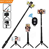Selife Stick Bluetooth, Extendable Selfie Stick Monopod...