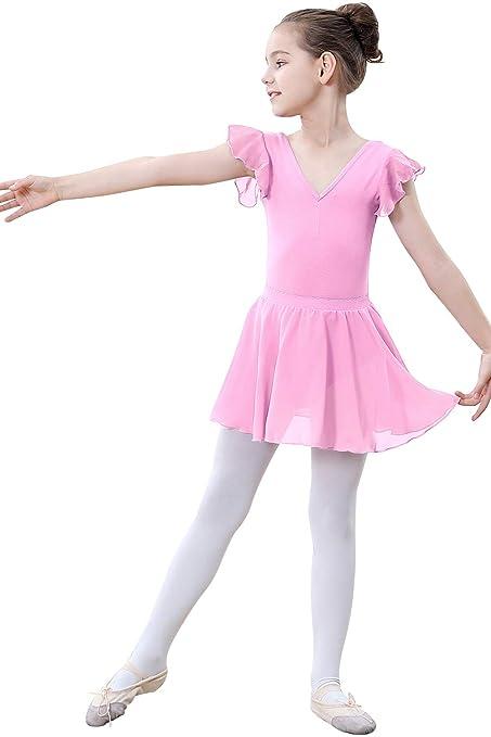 76381ad18 Amazon.com : ZOEREA Baby Girls Flutter Sleeve Skirted Leotard Tutu Dress  for Dance Ballet Gymnastics : Sports & Outdoors
