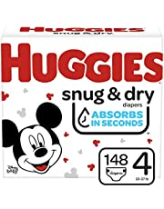 Diapers Size 4 - Huggies Snug & Dry Disposable Baby Diapers, 148ct, Mega Colossal Pack