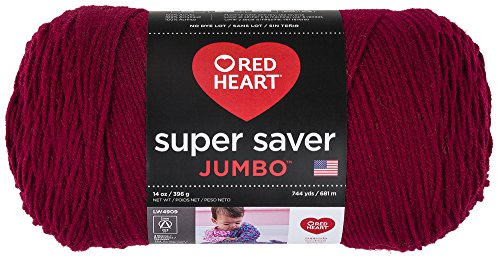RED HEART RED HEART Super Saver Jumbo Yarn, Burgundy - E302C.0376