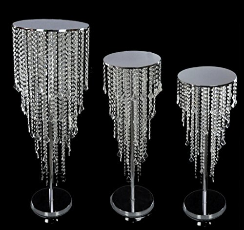 TCDesignerProducts Adjustable Beaded Candle Holder, Adjusts Up To 25 Inches High, Prom Floor or Table Decoration